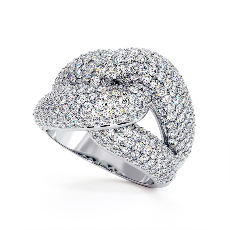 Solitaire Diamant MON AMOUR Or Blanc 0.72 Carat