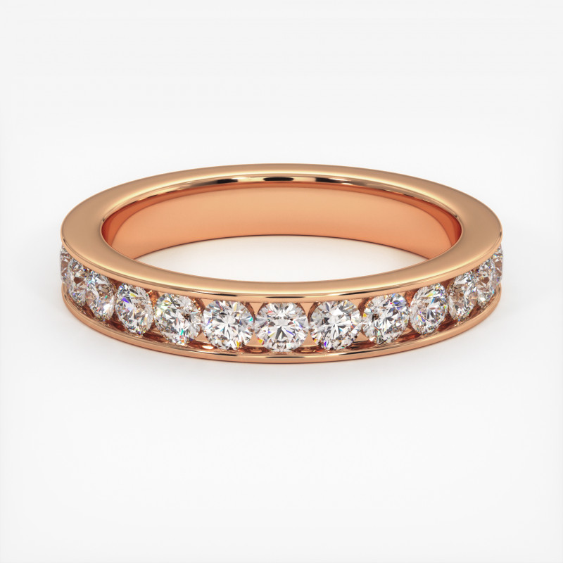 Solitaire Diamant MA PRINCESSE Platine 950/1000 2.50 Carats