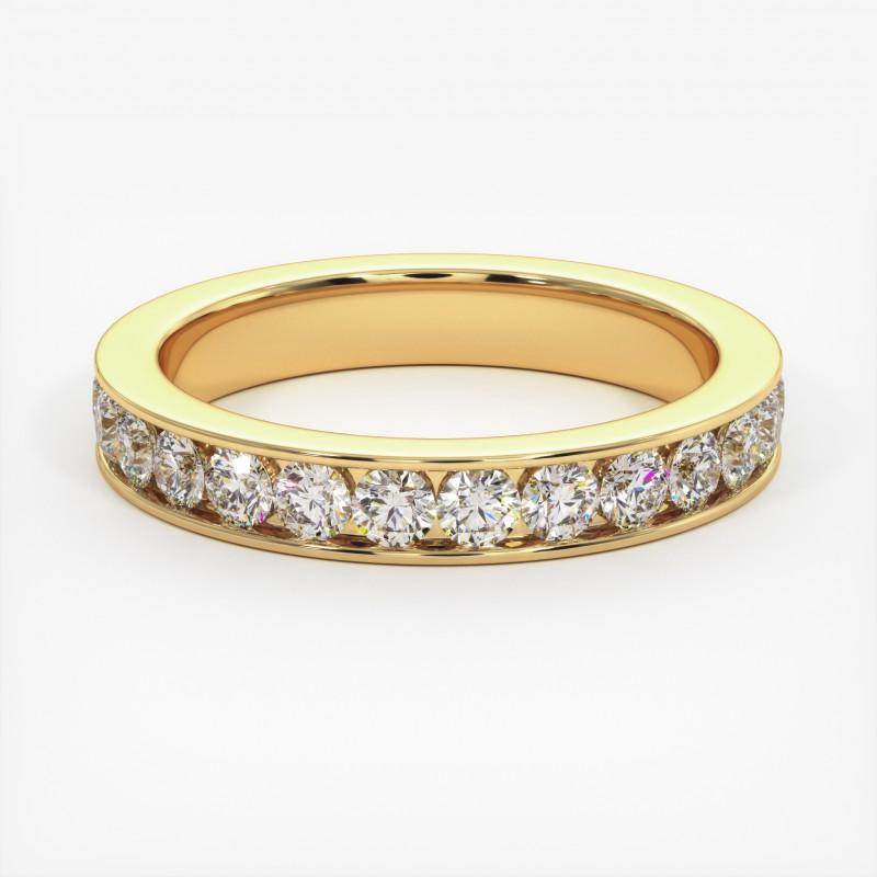 Solitaire Diamant MA PRINCESSE Or Blanc 800/1000 1.00 Carat