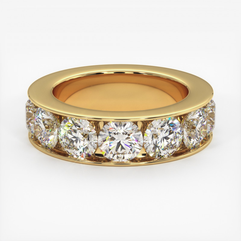 Solitaire Diamant MA PRINCESSE Or Blanc 800/1000 3.30 Carats
