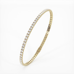 Solitaire Diamant taille Rond MA VIE Or Jaune 750/1000 2.80 Carats