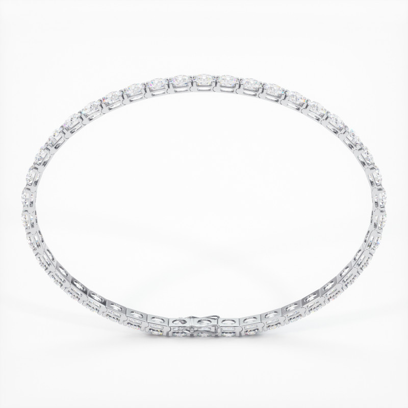 Solitaire Diamant taille Coussin MA VIE Or Blanc 800/1000 2.30 Carats