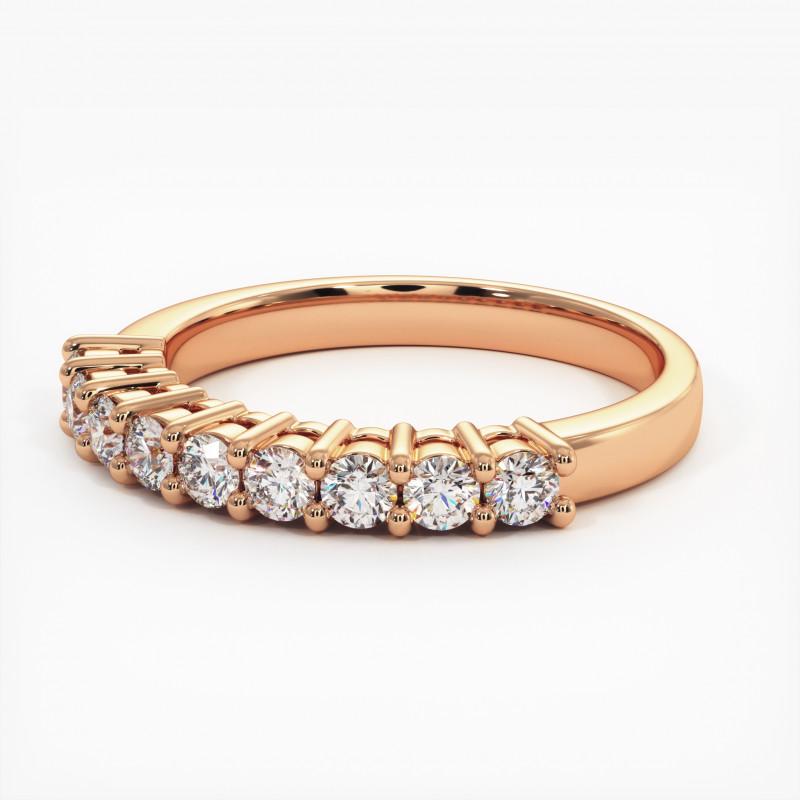 Pendentif Diamant Pure Or Rose 0.90 Carat