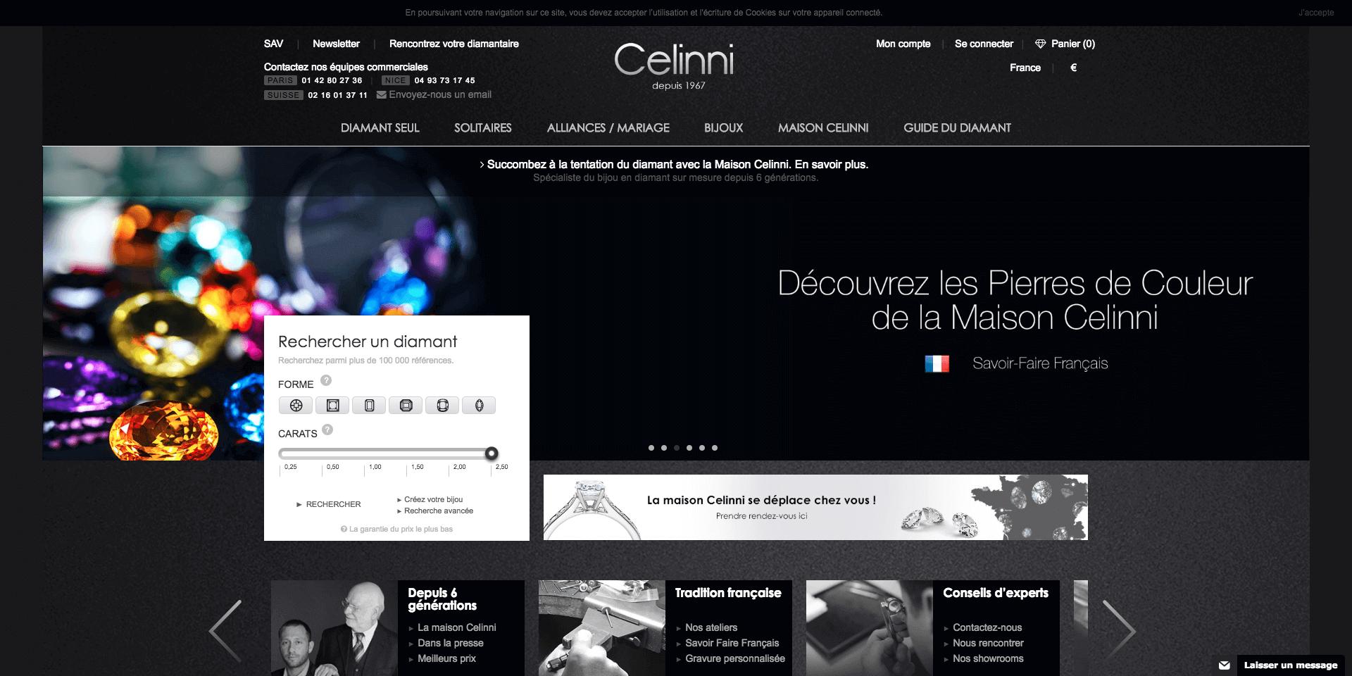 d665d66a04e Diamantaire Celinni   Bijouterie en ligne pas cher